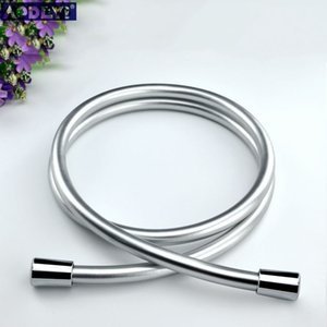 PVC High Pressure Silver & Black PVC Smooth Shower Hose For Bath Handheld Shower Head Flexible Shower Hose Free Shipping 11-088 T200715