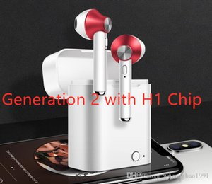 H1 Chip Generation 2nd TWS Wireless Earphone Smart Sensor+Rename+GPS Bluetooth Headphone Stereo Earbuds For iphone Android super retail Box