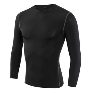 Men Women Fitness Basketball Running Sports T Shirt Thermal Muscle Bodybuilding Gym Compression Tights Jersey Tops 2021