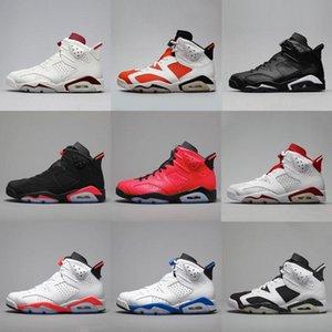 2020 Black Infrared Men 6 VI 6s Basketball Shoes Tinker UNC Black Cat White Red Carmine Mens Kids Bred Designer Trainer Sports Sneakers40-47
