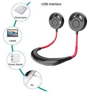 Mini USB портативного вентилятор шея Вентилятор Bladeless шейный С Аккумуляторным Малого столом Вентиляторы Ручного манипулятором Air Cooler Conditioner