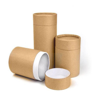Крафт-бумага пробки Упаковка Коробки Чай Упаковка Tube Drawing Tube Обтекание Упаковка Круглые Ящики для хранения