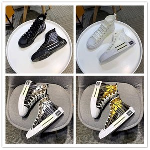Christian dior cd 2020 top high quality 19SS floral technical canvas B2 B24 oblique men's brand high-top sneakers B2 brand designer shoes ladies new