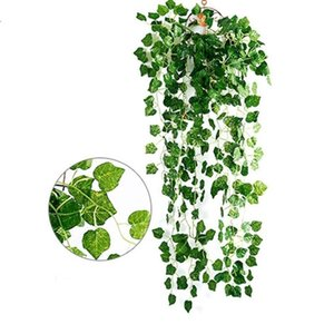 2Pcs Artificial Ivy Leaf Garland Plant Vine Fake Foliage Artifical Decoration Vine Delicate Party Wedding Decoration Home Decor