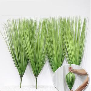 Agropyre artificielle arbustes buissons en plastique feuilles vertes plantes Faux mariage jardin Verandah Table Décoration Centerpieces
