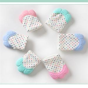 Gants enfant silicone Teething Molars soins dentier dents latex Mitt bébé Bite prévention moufles maternelle Enfants Vocal Juguetes 5 1Mo B2