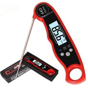 Wasserdichte Digitalsofort lesen Fleisch-Thermometer-Küche Essen Kochen Thermometer Hintergrundbeleuchtung Elektro-Fleisch-Thermometer-Sonde Grilling DHB318