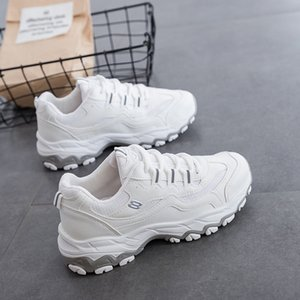 Ake Sia Feminine Frauen beiläufige bequeme Mujer Dame Lace-Up Plimsolls Chaussure verdicken Soled Waddle Freizeit-Walking-Schuhe CS07