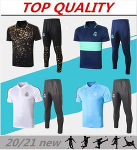 2020 2021 Реал Мадрид футбол рубашки ПОЛО 20 21 maillots футбольных Реал короткий рукав бег трусцой размер футбол обучение костюм S-XXL
