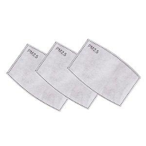 5 Couche PM2,5 Masque Coussin filtre activé Filtre à charbon respiration Insert de protection du visage écharpe de rechange à usage unique Joint intérieur DDA248