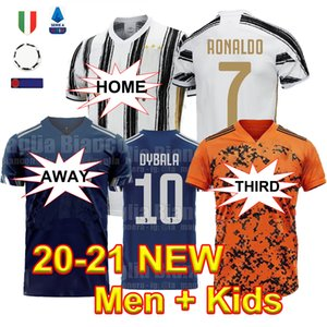 2021 Thailand Soccer Jerseys RONALDO Football Shirts BERNARDESCHI DE LIGT 20 21 DYBALA D.COSTA Soccer Wear Men + Kids Kit Uniforms