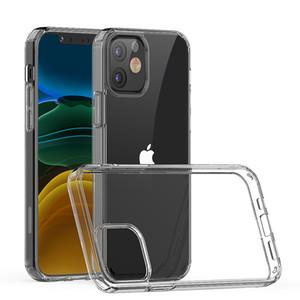 Pour iPhone 12 Pro Max 12 Pro 12 Mini 1,5mm Transparent Acrylique + TPU Téléphone cas antichocs Mobile Phone Shell Cover D1