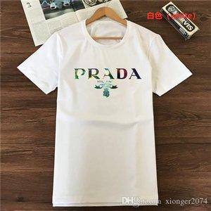 Pra̴da Europe Paris T-shirt Tops Mens T Shirts Casual Men Women Clothes Cotton Tee mens designer tracksuits givency