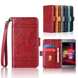 Newest Wallet case for Digma LINX X1 Pro 3G Flip case with Strap,100% special PU leather embossing flower book cover