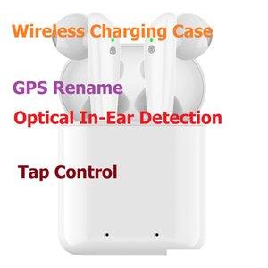 GPS Renommer AP2 AP3 TWS Bluetooth écouteurs casque casque écouteurs H1 Chip détection de charge Air optique sans fil Cosses PK 2 3 Pro i12 i9