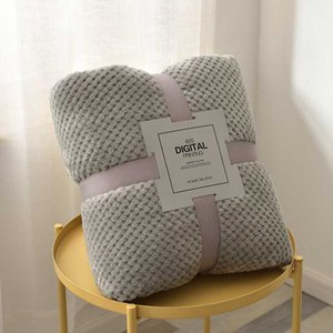 Super Soft Blanket Flannel Aircraft Sofa Use Office Children Blanket Towel Travel Fleece Mesh Portable Car Travel Cover