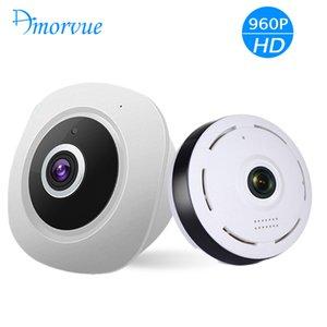무선 WIFI IP 카메라 360 어안 파노라마 돔 카메라 1.3M 960P CCTV 나이트 비전 비디오 감시 보안 지원 TF