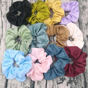 Scrunchies Headbands Satin Hair Tie Ropes Matt Solid Women Hairbands Hair Scrunchy Ring Girl Ponytail Holder Fashion Hair Accessories