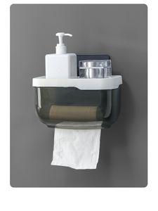 Bathroom paper towel box Waterproof Toilet Paper Holder Mobile Phone Storage Shelf Wall Mounted Rack New