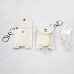 30ml Hand Sanitizer PU Flaschenkasten Flaschen tragbarer Fall Schlüsselanhänger Parfümflaschenaufbewahrungstasche mit leerer Flasche MY-inf0007