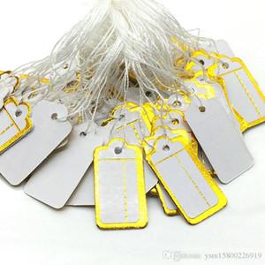 500 PCS Preisschild Zugfadens Anzeige Etikett 23x13mm chic Schmuck Preisschild Weiß String Tie-on Preisschild White Blank Paper Label