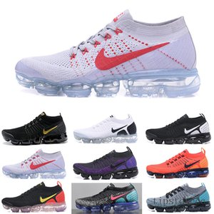 Vapormax flyknit air max  2019 Knit 2.0 Fly 1.0 Men Women BHM Red Orbit Metallic Gold Triple Black Designers Sneakers Trainers Running Shoes US5.5-11 HYT6N