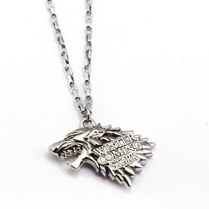 Game of Throne Necklace House Stark Pendant Fashion link chain Necklaces Friendship Gift Jewelry Accessories