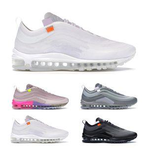 nike off white air max 97  da corsa Menta regina mens bianco nero di sport delle donne di moda all'aperto fare jogging comodo con box