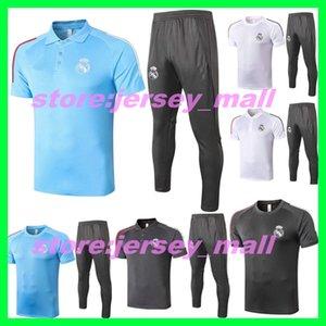 2020 2021 de qualité supérieure Real Madrid RISQUE costume de formation de football polo Short 20 21 MODRIC MARCELO Asensio pistes kit chemise de football
