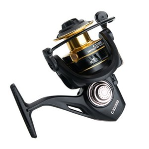 Luckinvoker Baitcasting Reel 5.2: 1 Max Drag Moulinet 13 kg Coulée en métal Bobine Moulinet Black Gold Series 1000-7000