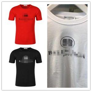 designer Balenciaga Mens T Shirt Men Women Couples Casual Short Sleeve Mens Round Neck Tees 5 Colors S-3XL