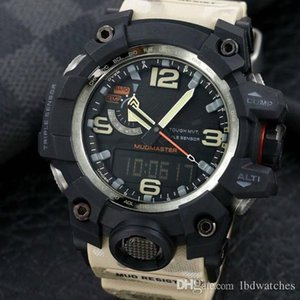 men watch GWG1000 Watch 60mm original Digital Movement YG factory sports Wristwatches Waterproof with steel box