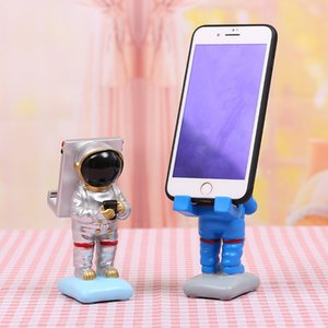 Astronaut space dreamer mobile phone holder mobile phone holder resin craft lazy mobile phone display stand holiday gift