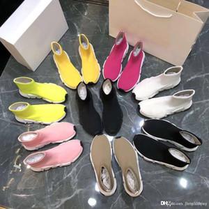 2019 Nuovo Modello estate casuale Calze Scarpe Sexy maglia elastica stivali calzino dal design di lusso donna scarpe di moda scarpe sportive maschili dimensioni 35-46