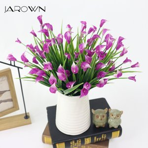 JAROWN Artificial Trumpet Flower Morning Glory Simulation Small Calla Lily Flower Bouquet For Wedding Decoration Home Decor