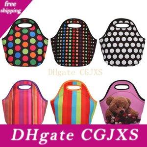 pranzo al sacco all'ingrosso, monogramable neoprene Starfish Lunch Box in Die Cut Handle con 6 colori LX0482