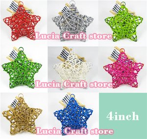Lucia Crafts SALE! 1piece lot 10cm (4inch) Star Shaped Natural Rattan Woven Wicker Ball for Garden Party decoration 024052