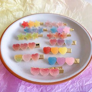 19 cor New Coréia Sweet Heart Estrelas dos doces cores minimalista cabelo grampo de cabelo aperto Adorável presilhas de cabelo pinos acessórios para mulheres M2283