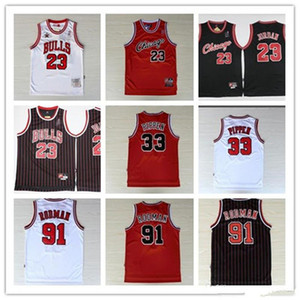 23 MJ Michael Jersey NCAA Scottie Pippen 33 Retro Dennis Rodman 91 45 MJ College-Mann-Basketball-Trikots