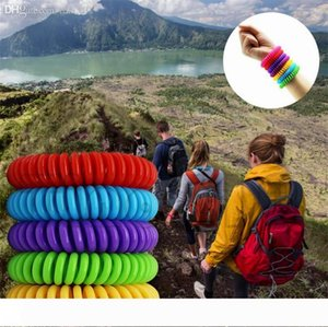 Anti- Mosquito Repellent Bracelet Anti Mosquito Bug Pest Repel WristBands Bracelet Insect Repellent Mozzie Keep Bugs Away Mixed Color I540