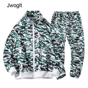 Autumn Tracksuit Men Camouflage Sportswear Sweatsuit Male Sweat Track Suits Hoody Hoodie with Pants Mens Camo Suit Set T200709