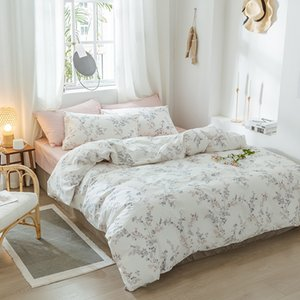Floral Print Ultra Soft 100%Cotton Twin Queen Bedding Set King size Bed Fitted sheet Kids Girls Bed set Duvet cover Pillowcases T200706