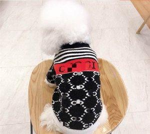 Pet 's Fashion Popular Printing Coat Splicing Jacket Dog Knitting Coat Pet V-collar Dust Jacket Fashion Winter Jackets Single Breasted Coat