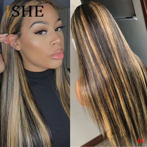 13x6 Lace Front Human Hair Wigs Straight Highlight Ombre Colored Lace Front Wigs For Black Women Pre Plucked Lace Wig Remy 150