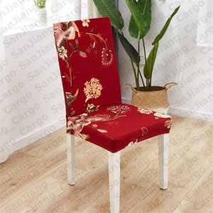 Flora 40 Designs Chair Printing Covers Elastic Slipcover Removable Chair Cover Stretch Dining Seat Covers Banquet Wedding Decoration E31402
