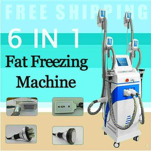Popular Fat Freezing Cryo Slimming Machine 5 In 1 Lipolaser Diode Ultrasonic 40Khz Cavitation Multipolar Rf Weight Reduce Beauty Equipment