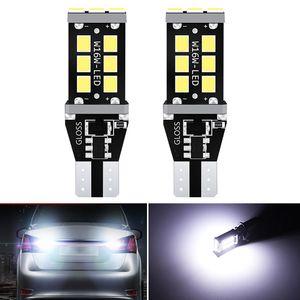 2x W16W T15 T16 LED Canbus Ampoules Canbus Free Error 921 912 lumières de secours W16W Lampes de voiture Feu de recul Xenon Blanc Rouge Orange