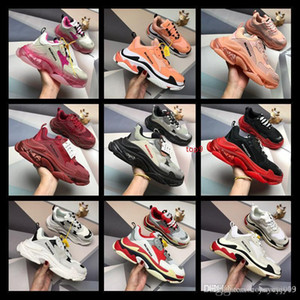 Top Fashion Design Paris 17FW Triple-S Triple S Sneaker Desi Luxury Dad Shoes for Men s Women Beige Black Sports Running Shoes 36-44
