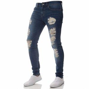 Fashion Men's Sweatpants Sexy Hole Jeans Pants Casual Summer Autumn Male Ripped Skinny Trousers Slim Biker Outwears Pants