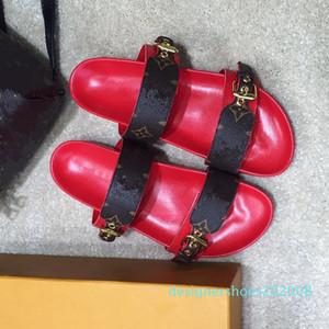 Di alta qualità rosa cowskin diapositive in vera pelle donne sandali piatti di lusso stilista dimensioni scarpe da donna 35-40 tradingbear D08